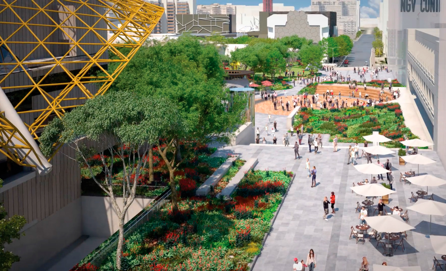 Revitalised and upgraded Southbank Arts Precinct