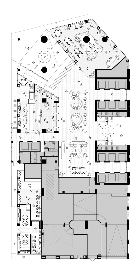 Ground level (indicative floorplate fit-out)