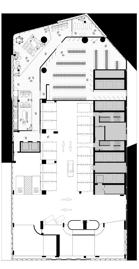Podium level 1 (indicative floorplate fit-out)